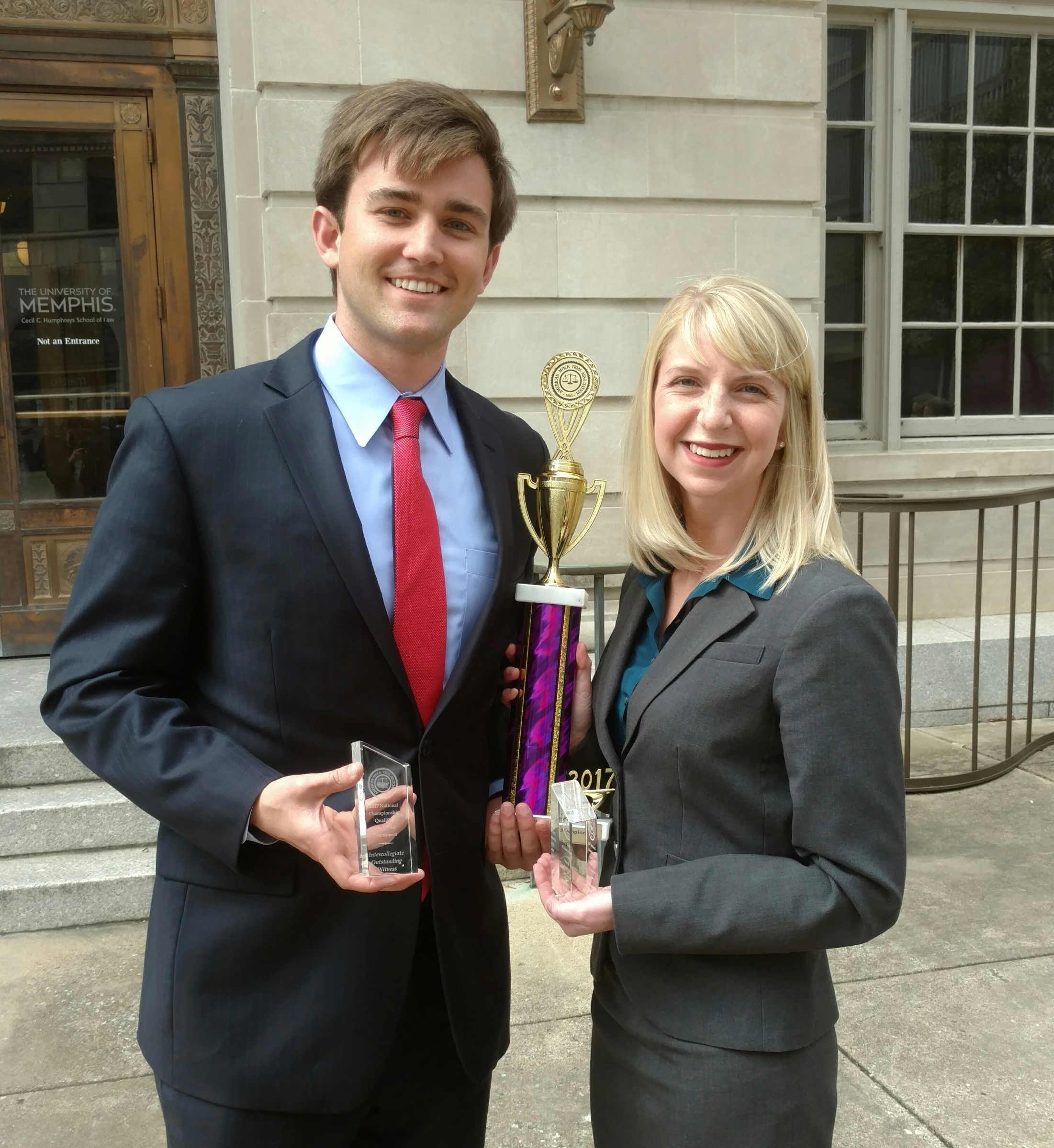 Tyler Swafford and Allie Maples earned awards at the Memphis ORC